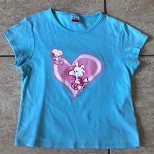 Peanuts Snoopy blue shirt